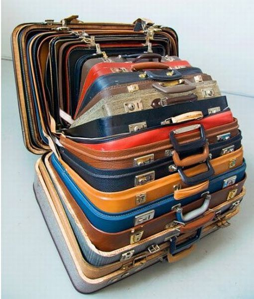 Cat In A Suitcase. Suitcases designed by the Cat