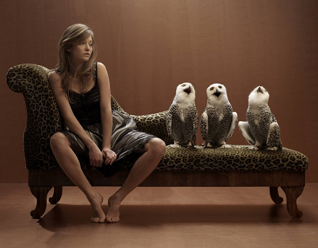 girl with owls 782