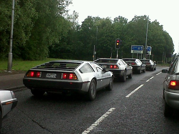What is better than driving past one DeLorean 562
