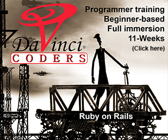 DaVinci Coders Programmer Training Beginner Based Full Immersion 11 Weeks