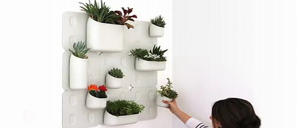 URBIO Comprises Of Wall Mounted Plates And Plant Pots That Will Sprinkle  Magic On Otherwise Dead Walls. Eco Plastic Has Been Used To Craft These  Pots That ...