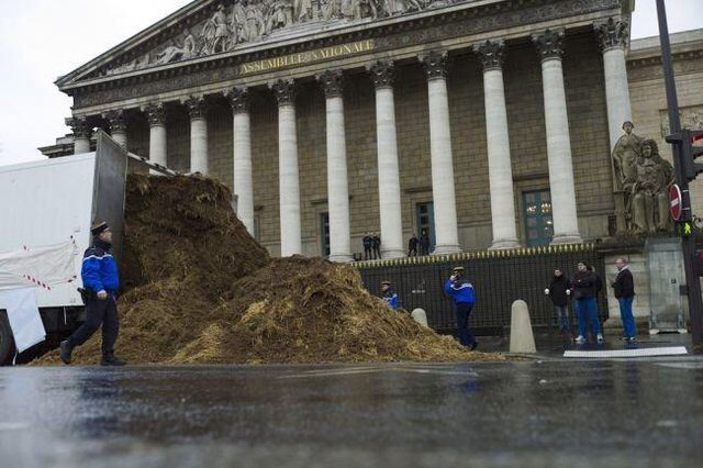 Several tons of horse shit was just dumped outside French parliament s2460p
