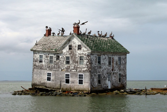 Last house standing on disappearing island 2445h