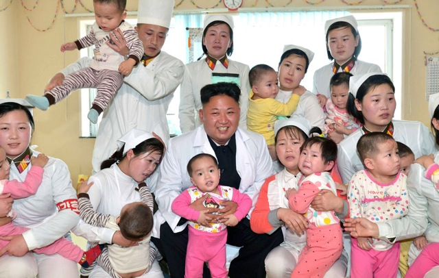Kim Jong-Un visited a kindergarten today. The looks on their faces are priceless 5t6yu7