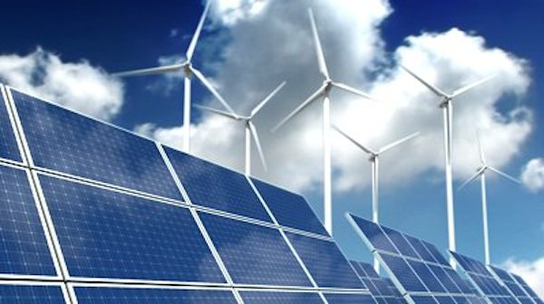 Solar-panel-array-and-wind-turbines-
