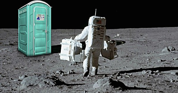 portapotty on the moon