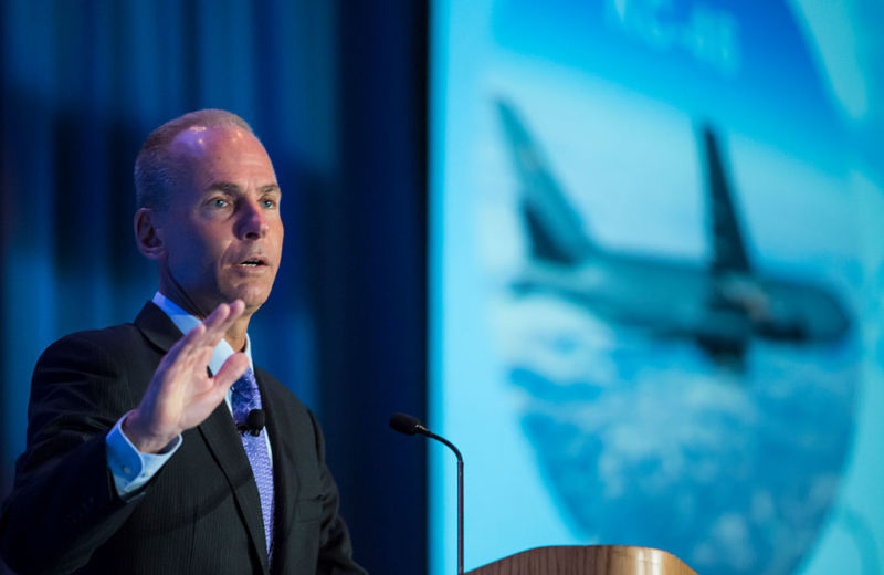Boeing CEO Dennis Muilenburg Addresses The SAE Aerotech Congress