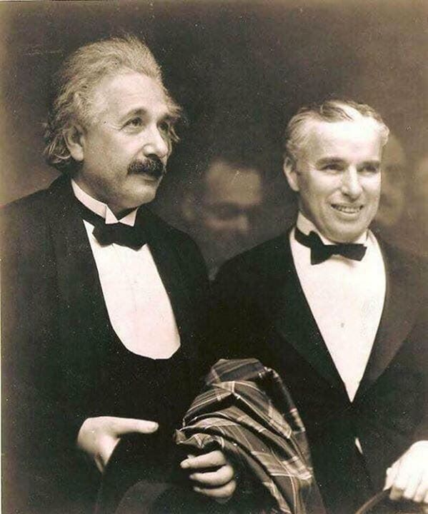 "2.) Albert Einstein met Charlie Chaplin in 1931, Einstein said, ""What I admire most about your art and its universality. You do not say a word, and yet the world understands you."" ""It's true,"" replied Chaplin. ""But your fame is even greater. The world admires you, when no one understands you at all!"""