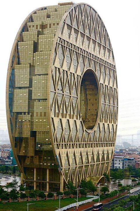 6.) Guangzhou Circle building in China has 33 floors tall, 910,000 sq ft, designed by Italian architect Joseph di Pasquale, completed in 2013!