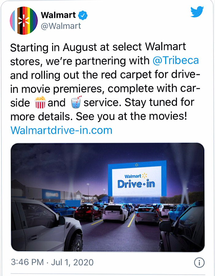 Walmart S Movie Plan Will Transform Parking Lots Into Drive In Theaters